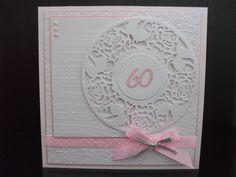 Handmade 60th Birthday Card Female
