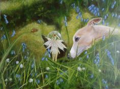A piece I am working on at the moment Whippet Dog, In This Moment, Pets, Board, Artist, Painting, Animals, Animales, Animaux