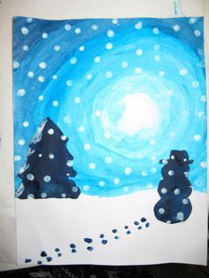 Terri's Teaching Treasures: Winter Wonderland Art- Idea:Add a winter poem that the students write to the picture