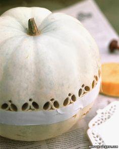 Lace-Patterned Pumpkins - Martha Stewart Holiday & Seasonal Crafts