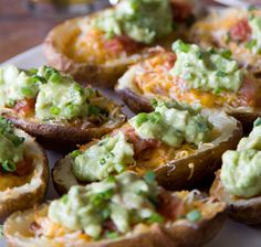 Super Bowl Party Food Ideas - Nacho Loaded Potato Skins - Click Pic for 40 Easy Super Bowl Snacks