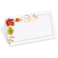 Fall Freshness Folded Place Cards | PaperDirect