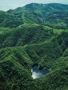 Lake Toyoni in the shape of heart