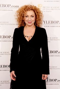 I want Alex Kingston's curls. My dream head of hair right there (but with my color of course. I'd be mother effin Merida)