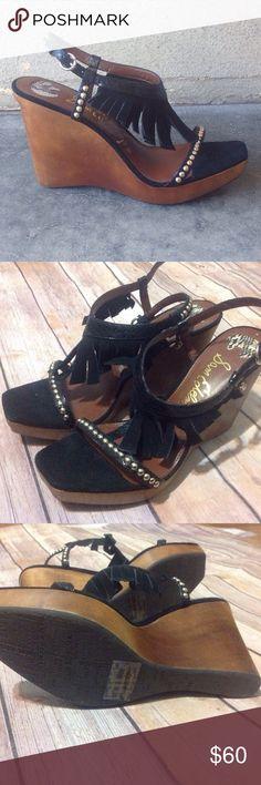 Selling this NWOB Sam Edelman Justine Fringe Wedges - Size 8 on Poshmark! My username is: yugiohmom. #shopmycloset #poshmark #fashion #shopping #style #forsale #Sam Edelman #Shoes