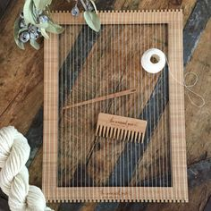 Large Bamboo Weaving Loom Kit by TheUnusualPear on Etsy