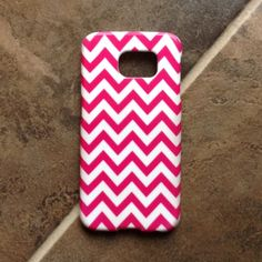 Samsung Galaxy S6 case Flexible and sturdy pink/white chevron S6 case. EUC...no flaws Accessories Phone Cases