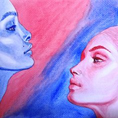 Red Meets Blue | Isabel Ibasco | watercolor