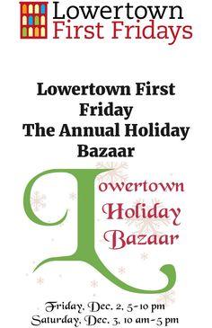 Lowertown First Friday 12/2, 5-10pm/at & around 308 Prince St, St. Paul near Saints Ballpark http://www.lowertownfirstfridays.org