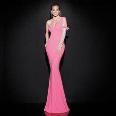 d84f797dcbd Click to Buy    vestidos de festa vestido longo 2017 Pink Single Long.