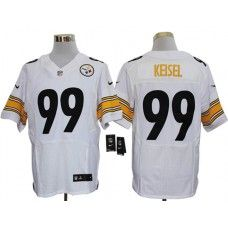 Nike Brett Keisel Jersey Elite Team Color White Pittsburgh Steelers  99 7cf8384ec