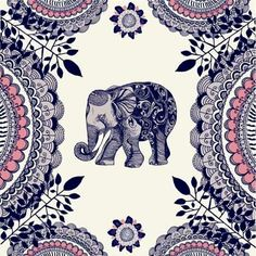 This would make prefect wall paper! I love the print. I love elephants!