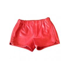 Pre-owned Thakoon Shorts ($246) ❤ liked on Polyvore featuring shorts, leather shorts, thakoon, red leather shorts and red shorts