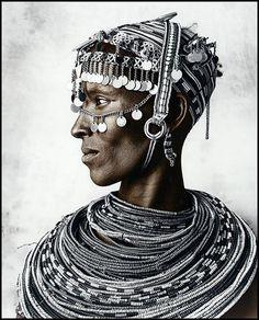 Beautiful portrait of a Rendille woman (Kenya).  Photo by:Jan C. Schlegel