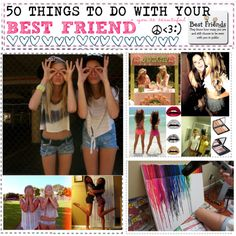 50 things to do with your best friend♥, created by piinksmoke on Polyvore
