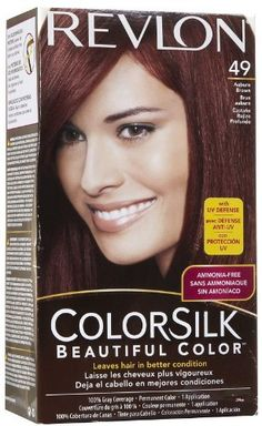 Revlon Colorsilk Beautiful Haircolor Ammonia-free Permanent Haircolor (Pack of 12) (49 Auburn Brown) * Continue to the product at the image link.