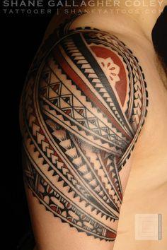 SHANE TATTOOS: Polynesian Shoulder Tatau/Tattoo