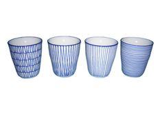 Cups set stripes - Pol's Potten - BijzonderMOOI* Dutch design online