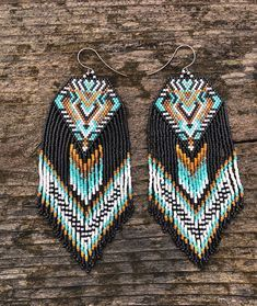 REVOLIA Stainless Steel Nose Ring Hoop Septum Piercing Cliker Ring Cartilage Stud Earrings Ball CZ Tragus Helix Piercing S – Fine Jewelry & Collectibles Brick Stitch Earrings, Seed Bead Earrings, Beaded Earrings, Earrings Handmade, Seed Beads, Beaded Jewelry, Aztec Earrings, Bead Jewellery, Fringe Earrings