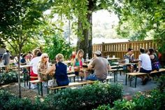 Best Beer Gardens in America: The Pharmacy (Nashville, TN) Don't worry -- this isn't some rogue CVS employee dispensing Xanax and PBR off the side of the road. Rather, it's a beer garden that also boasts an old-school soda fountain, allowing you to hop between pilsner and egg creams all night long. But don't do that.