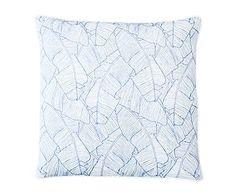 Blue White Pillow