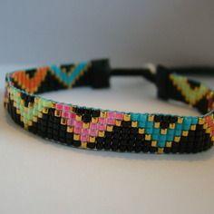 Modele flore - bracelet tisse perles miyuki