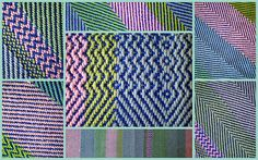 Collage of Handwoven Placemat, Twill Weave
