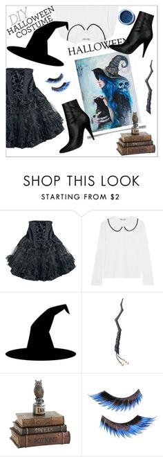 """""""DIY Halloween Costume"""" by danielle-487 ❤ liked on Polyvore featuring Comme des Garçons, Illamasqua and Lime Crime"""