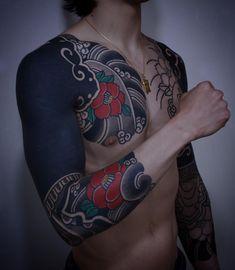 Blue Tattoo, Dark Tattoo, Tiger Tattoo, Tattoo Black, Arm Sleeve Tattoos, Japanese Sleeve Tattoos, Forearm Tattoos, Dope Tattoos, Tribal Tattoos