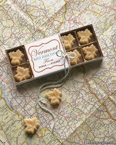 Favors: Maple sugar candies are a melt-in-your-mouth local specialty Candy Wedding Favors, Candy Favors, Candy Packaging, Pretty Packaging, Edible Favors, Sugar Candy, Martha Stewart Weddings, Favorite Candy, Personalized Wedding