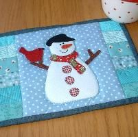 Snowman Mug Rug | Free pattern, Portal and Snowman : quilted mug rugs free patterns - Adamdwight.com