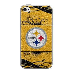 NFL Pittsburgh Steelers Bling iPhone 44S Applique YellowBlack ** Want additional info? Click on the image.