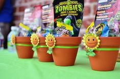 Plants vs Zombies Birthday Party - Priscilla Pink - Plants vs Zombies Birthday Party Plants vs Zombies Birthday Party Ideas - games, food and decorations for a PvZ birthday party. Zombie Birthday Parties, Dinosaur Birthday Party, Birthday Party Games, 7th Birthday, Birthday Ideas, Plants Vs Zombies, Zombies Vs, Zombie Party Decorations, Birthday Party Decorations