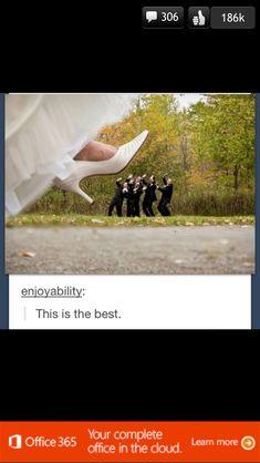 Wedding photo idea hilarious play on superimposing!! :)