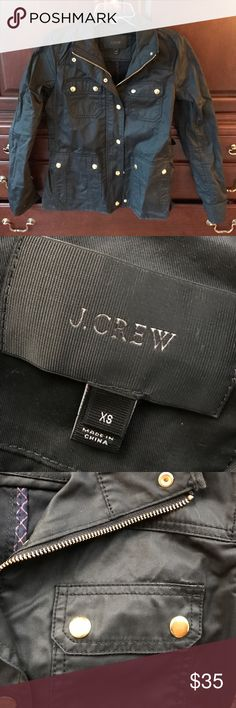 Jcrew jacket in black- never worn! Jcrew classic jacket brand new, never worn cuz I accidentally bought the wrong size. J. Crew Jackets & Coats