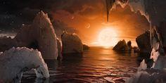 L'étoile Trappist-1 est située à 39 années-lumière de la Terre. Trois de ses planètes se trouvent dans la zone dite d'habitabilité, où l'eau peut se trouver sous forme liquide.