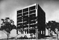 Edward Larrabee Barnes, 1965  Maquette for the New South Administration Building, Princeton University, Princeton, New Jersey