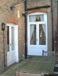 Back doors - victorian terrace Victorian Patio Doors, French Doors Patio, Victorian Terrace, French Windows, Victorian House, External French Doors, External Doors, Double Doors Interior, Interior Barn Doors