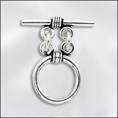 SS/4090 | Sterling Silver - 15mm Bali Toggle Clasp