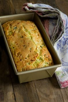 Savory Gluten Free Zucchini Bread recipe by Gluten Free on a Shoestring