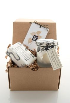 Gift Set - Sea Salt & Lavender Shea Butter Soap and Spa Candle on Etsy, $29.00