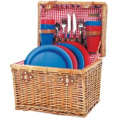 Picnic Time Oxford Picnic Basket for Four ($79) ❤ liked on Polyvore featuring home, kitchen & dining, food storage containers, picnic, food, picnic time baskets, picnic tote, picnic hamper and picnic time picnic basket