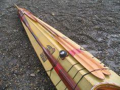 Skin on frame kayak with Aleutians style paddles