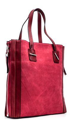 Burgundy red satchel handbag