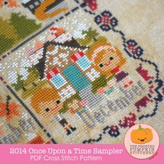 2014 Once Upon A Time Sampler PDF Cross Stitch Pattern / The Frosted Pumpkin Stitchery
