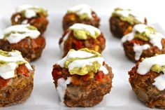 Skinny Mexican-Style Meatloaf Cupcakes with Weight Watchers Points | Skinny Kitchen