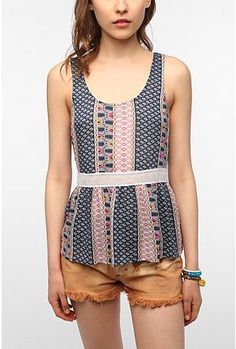 UrbanOutfitters.com > Staring at Stars Mesh Inset Tank