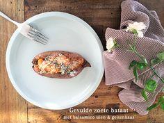 recept gevulde zoete aardappel vegetarisch