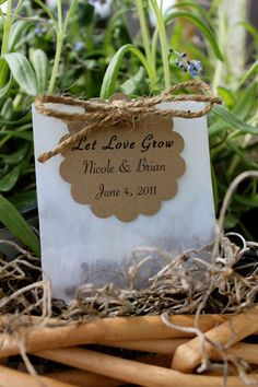seeds for wedding favors.... so cute!
