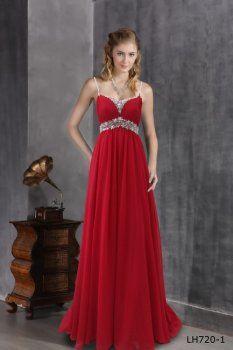 9eadffacacff Rosso cinghie principessa abiti da cerimonia invitati